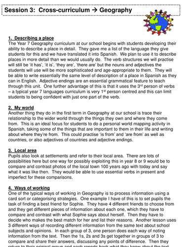 Session 3 - Cross-Curriculum-Geography