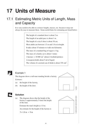 KS3 Units of Measurement (MEP – Year 8 – Unit 17) by CIMT ...