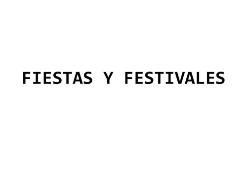 Fiestas y festivales en España