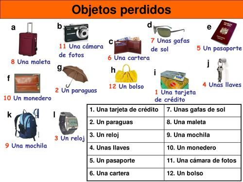En la oficina de objetos perdidos by mmullen teaching resources tes - Oficina de objetos perdidos ...