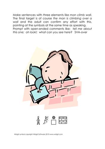 Symbol reading preposition sentences (Widgit)