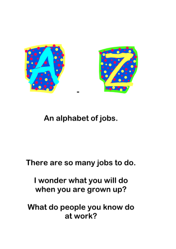 A-Z Jobs with symbol support (Widgit)