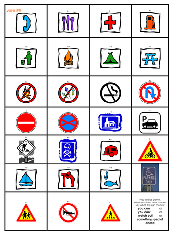 Signs in the environment - activities and game