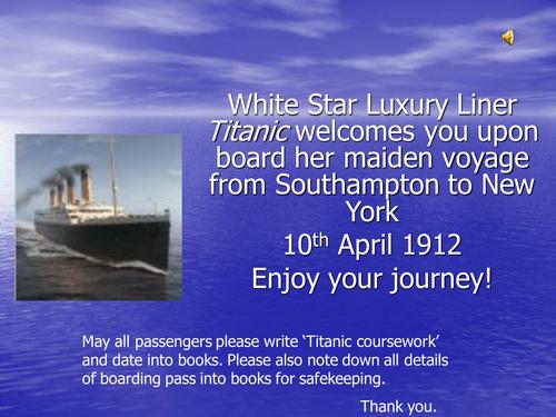 titanic gcse coursework