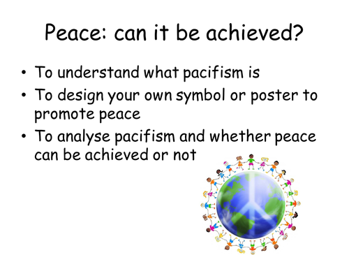 Peace: can it be achieved?
