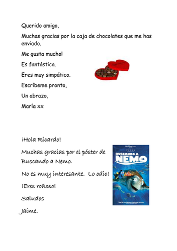 Spanish thank you letters worksheet by combertonvillagecollege spanish thank you letters worksheet by combertonvillagecollege teaching resources tes expocarfo Images