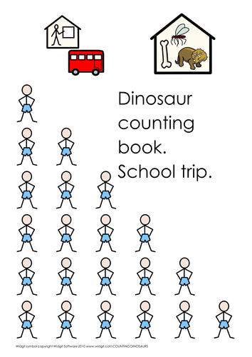 Dinosaur info, count and match (simple)  (Widgit)
