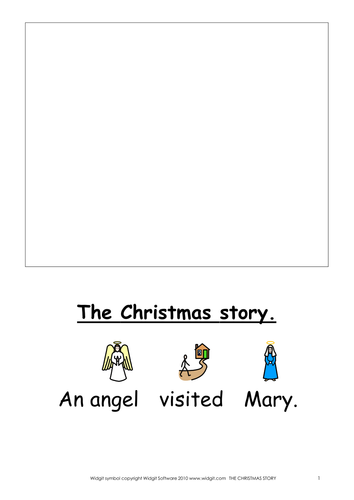 Christmas vocabulary and narrative. Widgit CIP