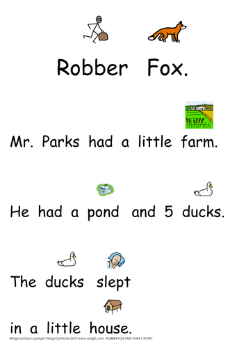 Number bonds to 5 - robbers (Widgit)