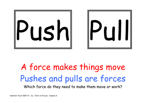 Pushes and pulls by HamiltonTrust - Teaching Resources - Tes