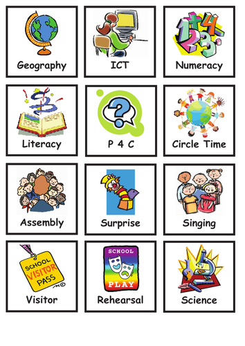 Visual Timetable - lots of variety!