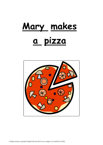 Making a pizza - story and game illus. with Widgit
