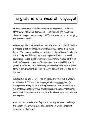 Vowel sounds,letter names + English stress(Widgit)