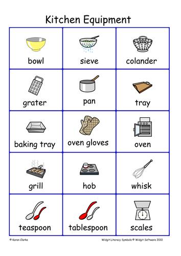 Widgit Kitchen Equipment Teaching Resources