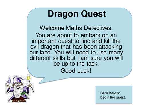 Dragon Quest Adventure KS2 Maths Problem Solving by Justyw ...