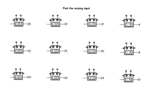 Function Machines Worksheet By Gking85 Teaching Resources Tes