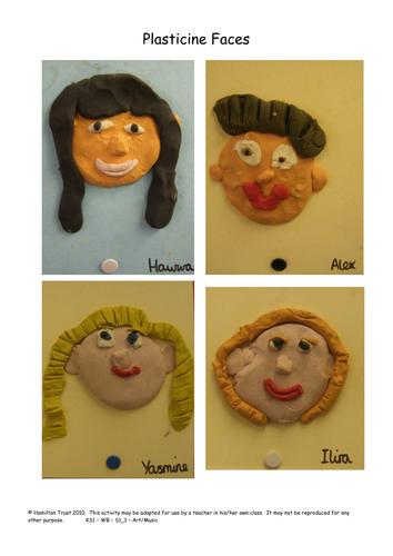 Making Plasticine Faces
