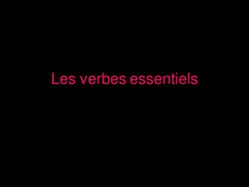 Present - Irreg Verbs (avoir, aller, faire, etre)