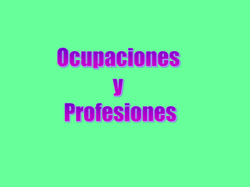 Ocup y Prof