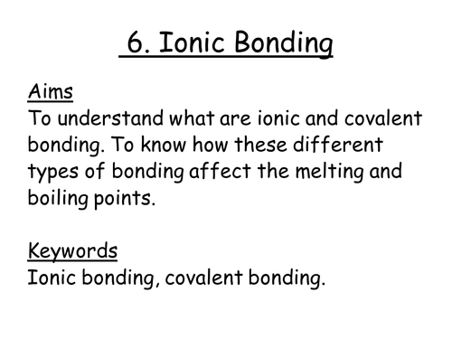 Ionic Bonding Powerpoint and Worksheet by daw58 Teaching – Ionic Bonding Worksheet