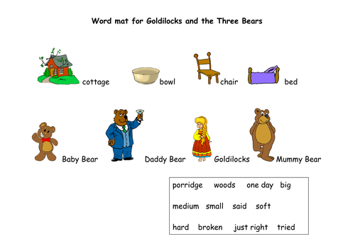 Goldilocks And The Three Bears Teaching Resources 6061264 on Book Report Activities For Middle School