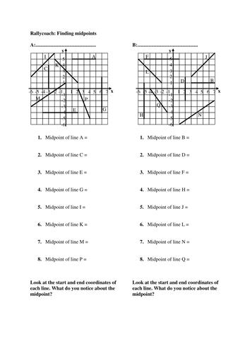 midpoint worksheet worksheets for school mindgearlabs. Black Bedroom Furniture Sets. Home Design Ideas