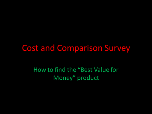 Value for Money Investigation and Pupil Report