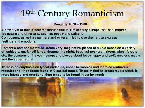 Higher Romanticism Topic