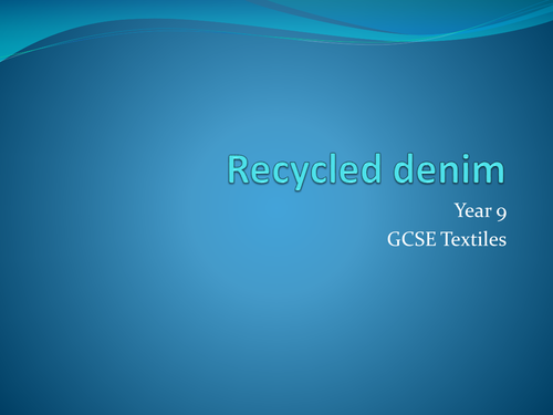 Recycled Denim