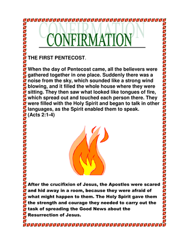 Confirmation By Moira16 Teaching Resources Tes