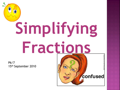 Simplifying Fractions Presentation by Milkandchalk Teaching – Simplifying Fractions Worksheet