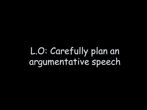 writing an argumentative speech