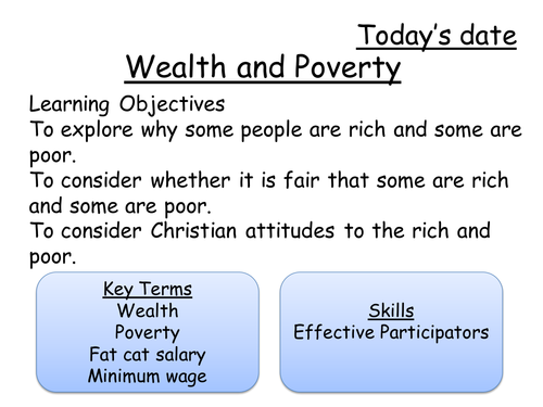 Wealth and Poverty 1