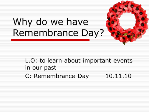 Remembrance Day Powerpoint By Emzbubble Teaching Resources Tes