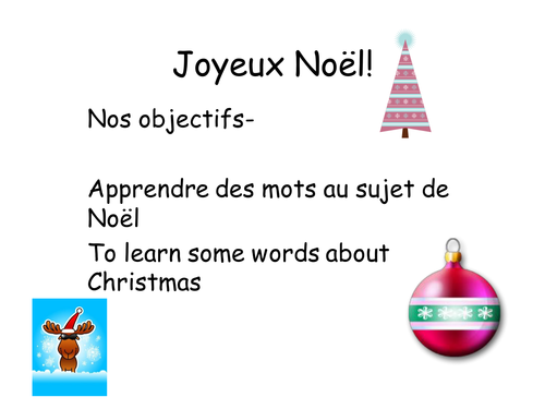 Christmas Vocabulary by RonnieTheRedPanda - Teaching Resources - Tes