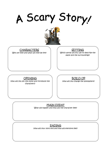 scary essay artist resume write professional graphic designer  scary story planning frame by kez teaching resources tes