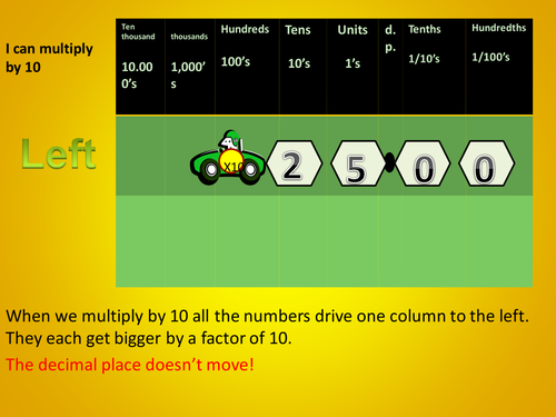 multiply and divide by 10, 100, 1000 by debbie joseph - Teaching ...