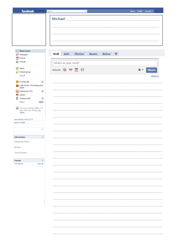 Character Facebook Page Template By Whiteangel38