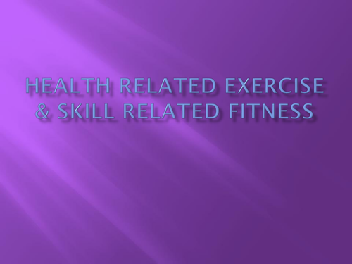 Scheme of work for Health Related Fitness by - UK Teaching ...
