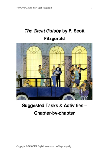 the great gatsby chapter by chapter activities by tesenglish