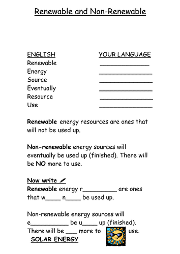 Renewable and Non renewable resources by tfaircloughc - Teaching ...