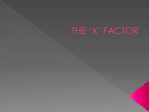The 'X' Factor Algebra Substitution Game