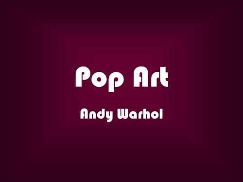 Pop art andy warhol powerpoint by jmpowell teaching resources tes toneelgroepblik Choice Image