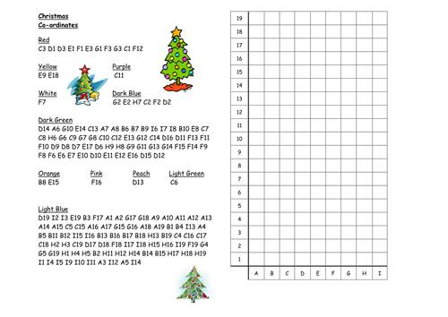 MORE Christmas coordinates by nhktfc Teaching Resources Tes – Christmas Coordinates Worksheets