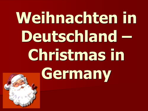 Christmas In German.Powerpoint About German Christmas Traditions