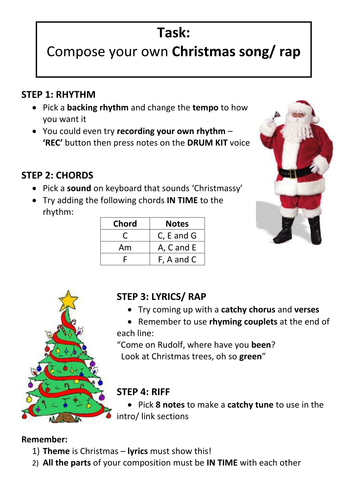 Christmas Song/ Rap Composition' - Worksheet by pete216state ...