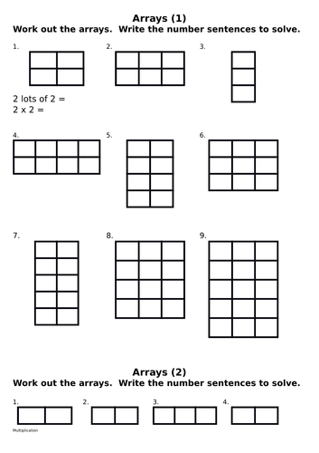 Arrays - Multiplication by rzrzneck34a - Teaching Resources - TES