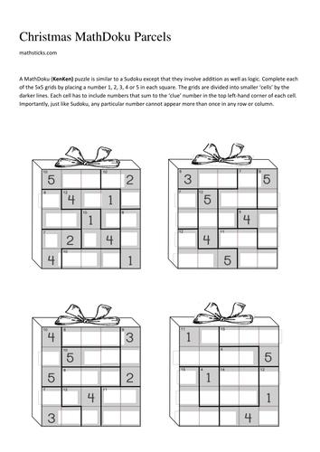 Christmas MathDoku