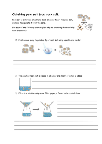 Purifying Rock Salt By Rmr09 Teaching Resources