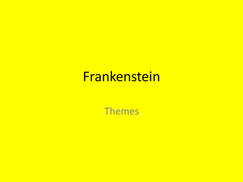 thematic and stylistic features of frankenstein Start studying literary terms american literature learn vocabulary, terms, and more with flashcards features quizlet live quizlet learn diagrams flashcards.